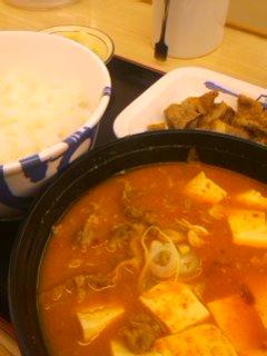 松屋の豆腐キムチチゲ